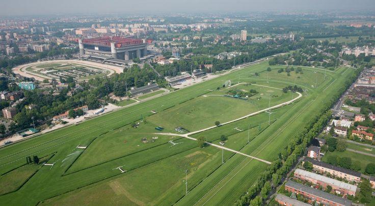 MILAN -  AERIAL VIEW  HIPPODROME - STADION  district  SAN SIRO