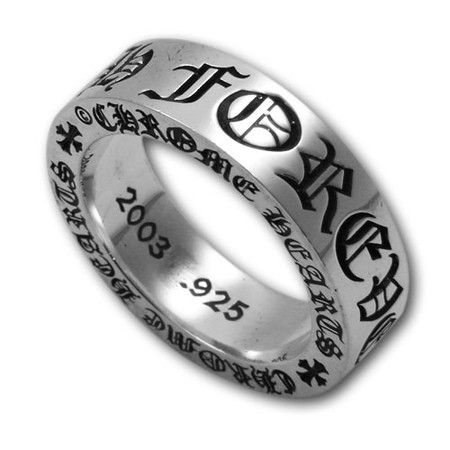"CHROME HEARTS 6mm Spacer Ring ""Forever"""