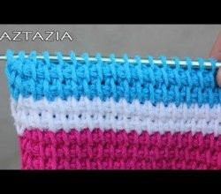 ... Video Tutorial] Crochet Stitches: Learn To Crochet The Tunisian Stitch