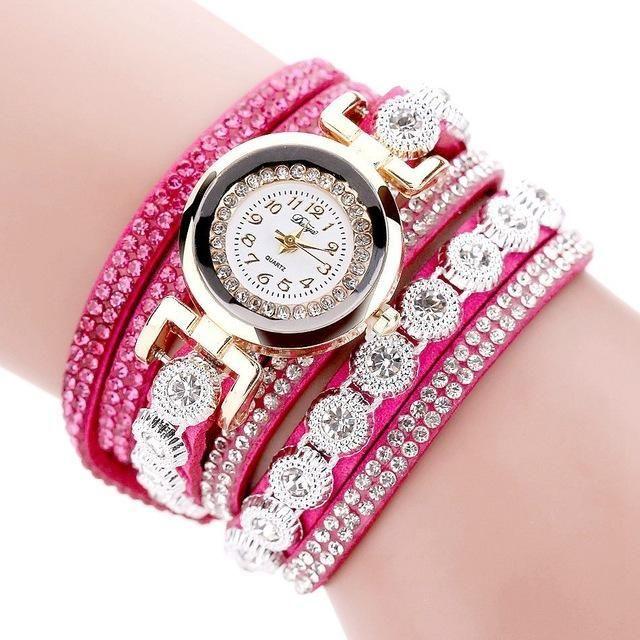 Luxury Bracelet Bangle Round Dial Dress Wrist Watch