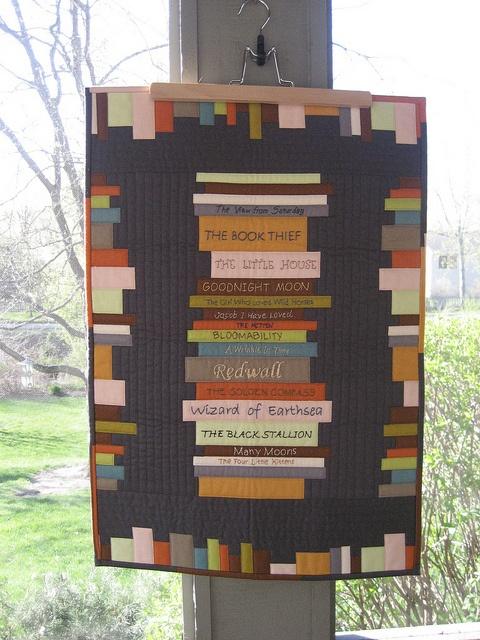 Rachel's book quilt by srhshlmn, via Flickr