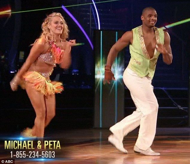 Getting better: Michael Sam and Peta Murgatroyd overcame their difficulties in rehearsal...