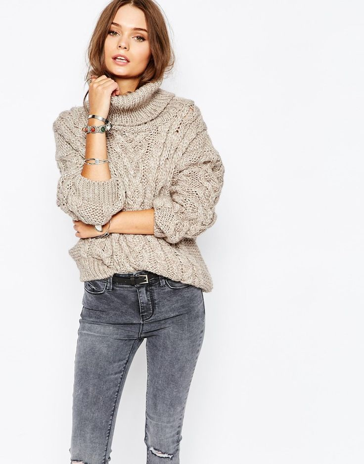 New Look Cowl Neck Cable Jumper