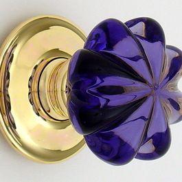 Purple glass door knob.