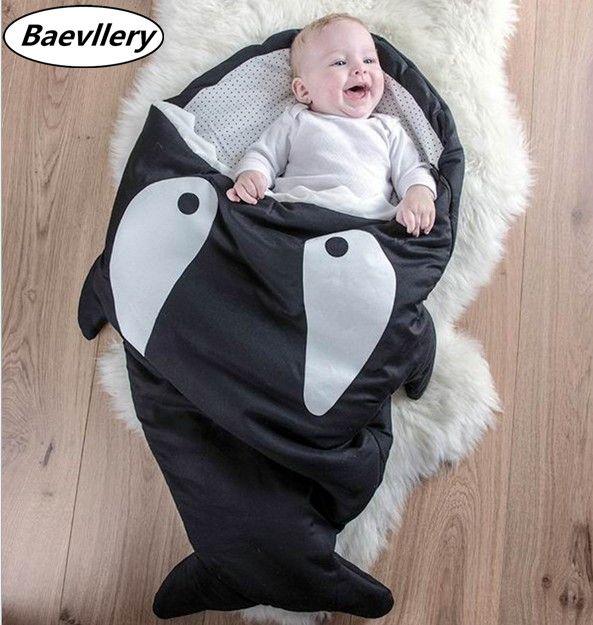 >> Click to Buy << Promotion! Hot Sales Newborn Baby Shark Sleeping Bag Winter prams Swaddle Blanket Wrap used Bed Cute Cartoon #Affiliate