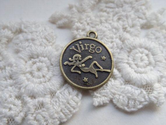 Virgo Horoscope Charm Star Sign Zodiac Symbol Antique by BuyDiy