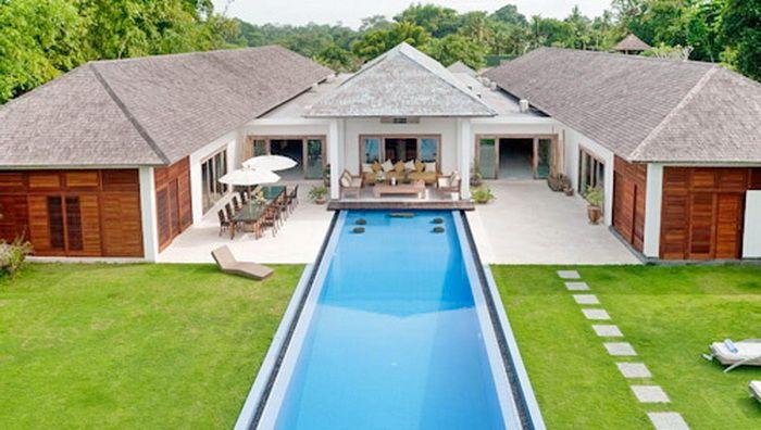 Villa Les Rizieres | 8 bedrooms #modern #villa #aerial #dronecam
