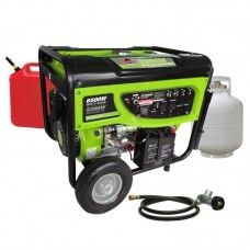 Smarter Tools 5200-Continuous Watts, 120/240-Volt, Propane (LPG) or Gas Powered Generator