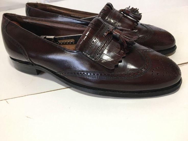 Unisex Adult Leather Tassel Weave Slip-On Loafer Shoes