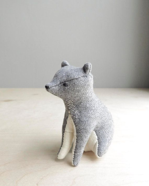 your place in the world / grey bear / soft by ohalbatross on Etsy, $78.00