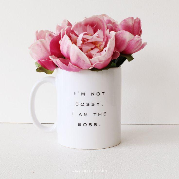Bossy Ceramic Mug PRE ORDER by MissPoppyDesign on Etsy, $18.95