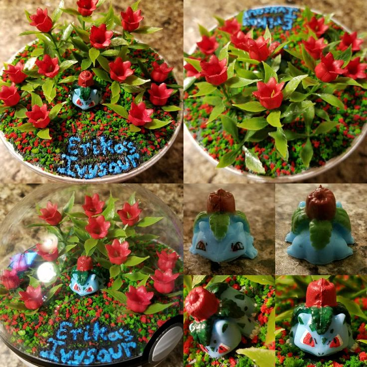 Just like the old Pokemon card! A unique request  #etsy #etsyshop #etsysellers #Pandanimity #pokerarium #Pokemon #PokemonGo #pokeball #pokemonterrarium #pokeballterrarium #terrarium #handmade #Ivysaur #erikasivysaur