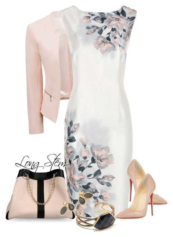 """""""5/25/15"""" by longstem ❤ liked on Polyvore featuring Forever New, Jacques Vert, Christian Louboutin, See by Chloé, Moran Porat Jewelry and Barse"""