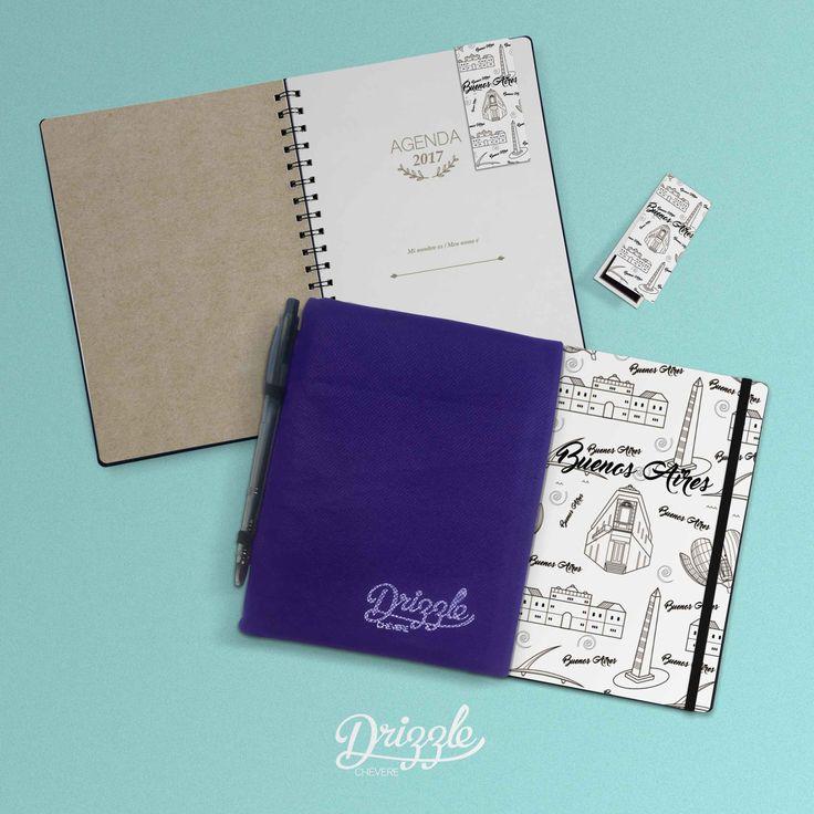 @drizzlechevere  Agendas 2017 Buenos Aires  Planner Cuadernos Señaladores Imantados