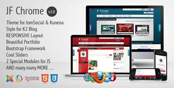 . JF Chrome is a Powerful Professional Responsive Joomla, JomSocial and Kunena Template with lots of features and settings.
