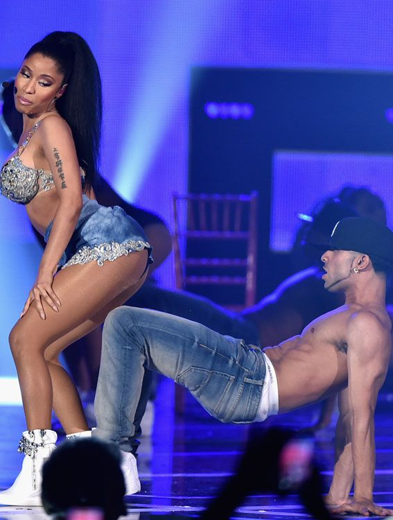 "The Most Bootylicious Moments in History - 2014 - Nicki Minaj drops ""Anaconda,"" which quickly becomes the arse anthem of the year. #InStyle"