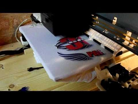 ▶ Home made T-shirt printer. - YouTube