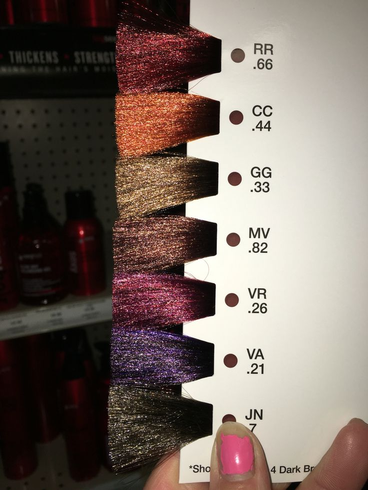 Matrix Socolor High Impact Brunette Color Swatch Matrix