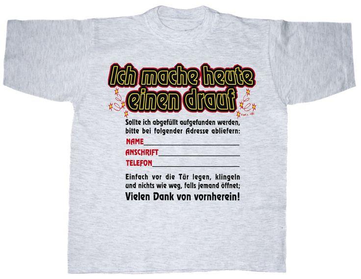 Fun-T-Shirt aus 100% hochwertiger Baumwolle in grau-meliert, mit