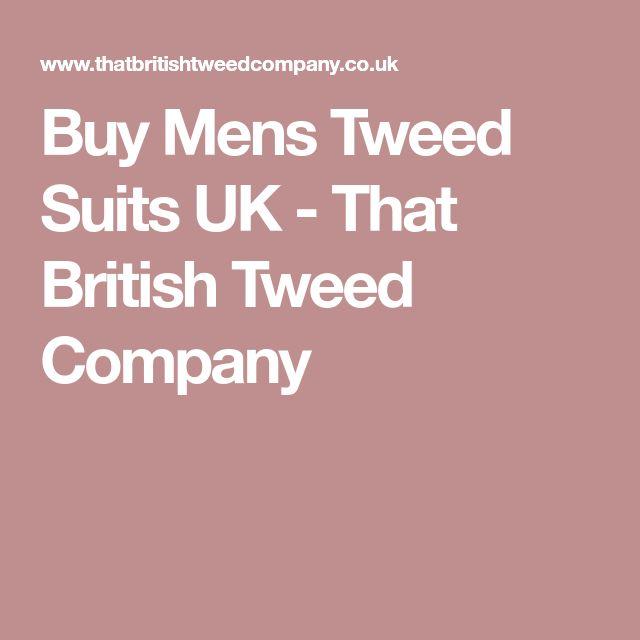 Buy Mens Tweed Suits UK - That British Tweed Company