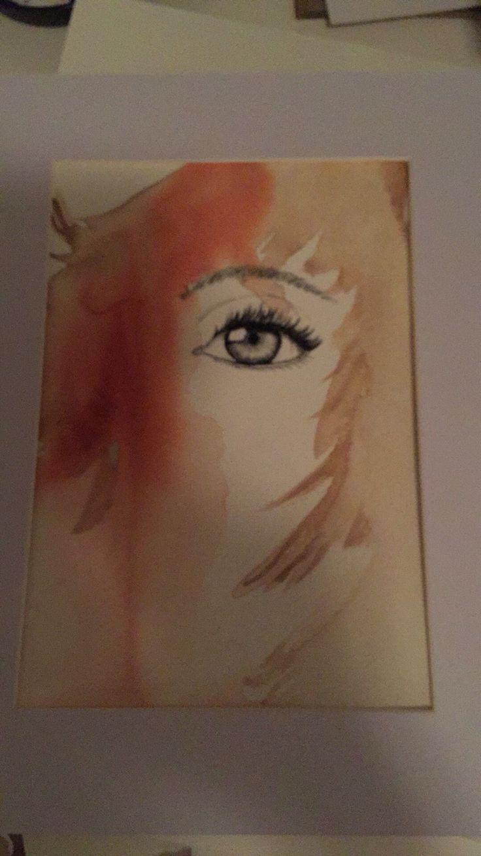 Akvarell och kolkrita