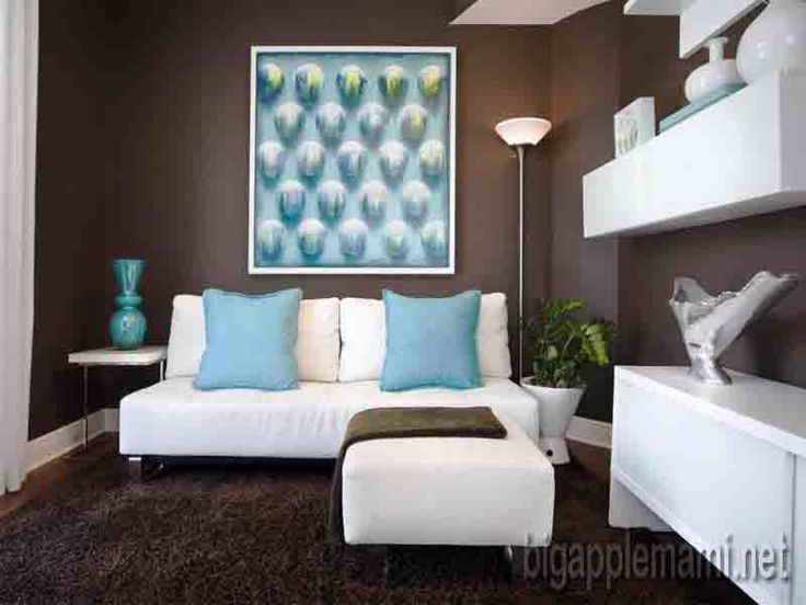 cool Chocolate Brown And Turquoise Living Room Ideas