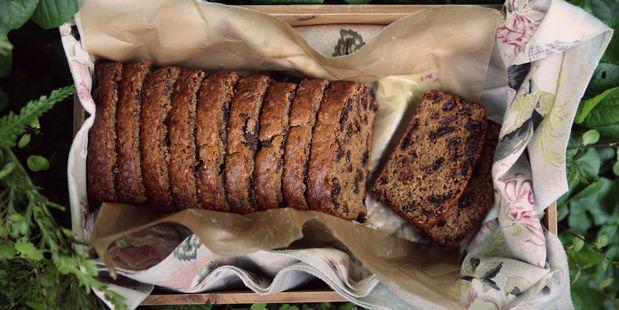 Boiled raisin and rooibos #tea loaf.
