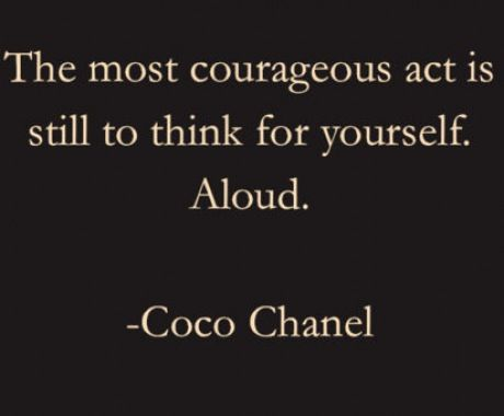 #qutoes Coco Chanel