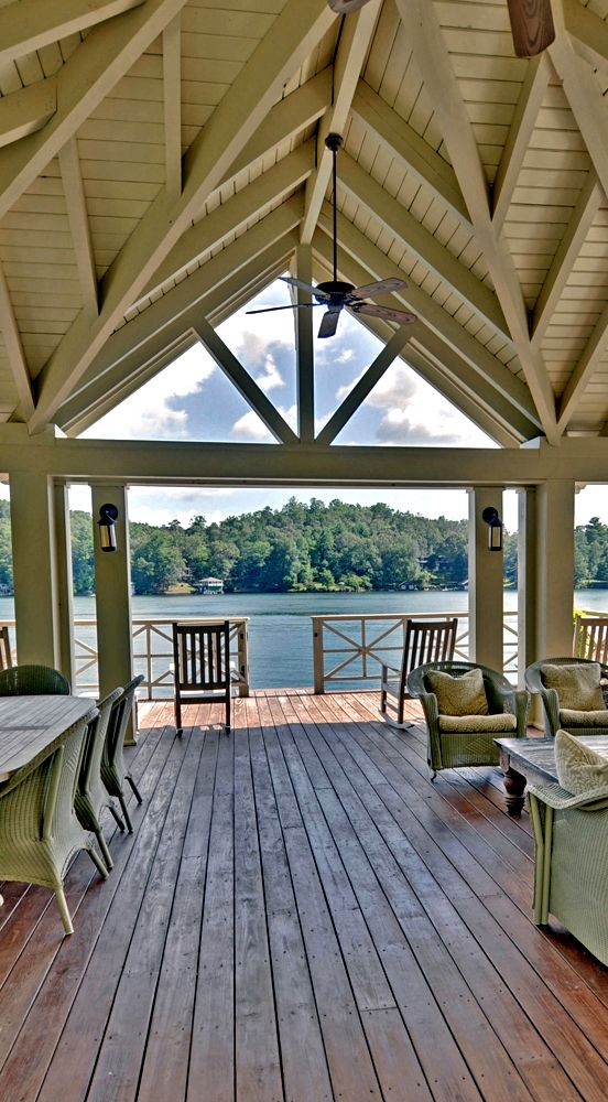 Back porch at the lake...
