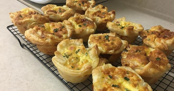 Cate's Quiche Cups - RC can make as a large one, just add 20+ mins.