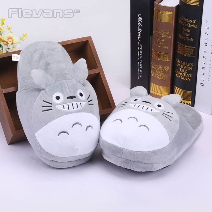 Anime Cartoon Totoro Cat Buss Fairydust Plush Shoes Home House Winter Slippers for Children Women Men Kids Slippers ANSE039