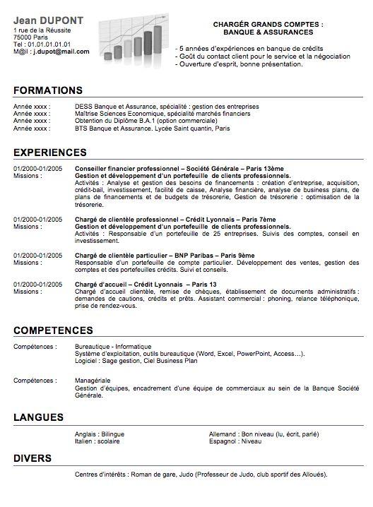 CV Commercial Gratuit Cv Pinterest