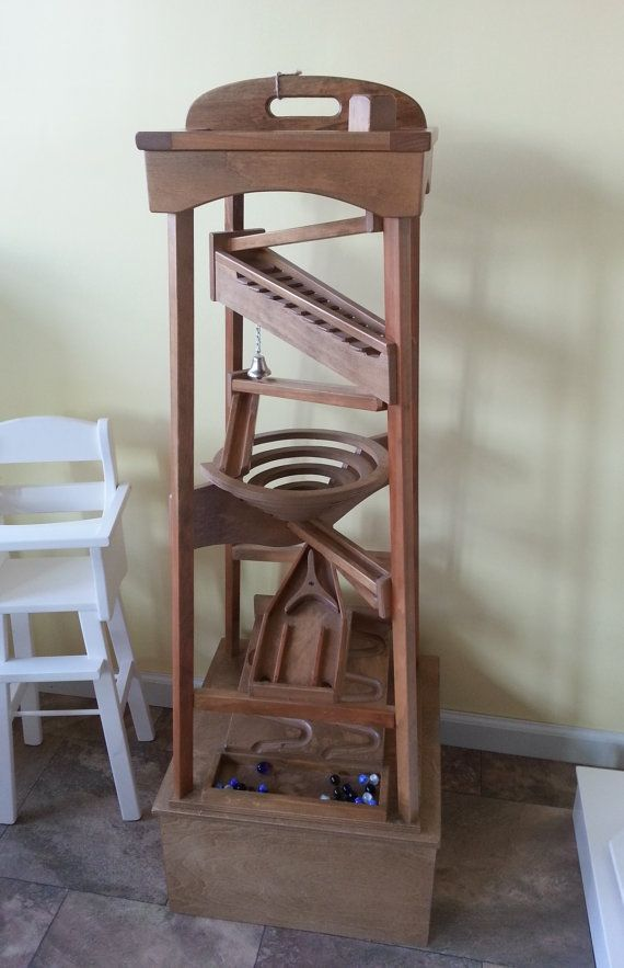 Tall Tower Amish Made Handcrafted Wood Marble Balls