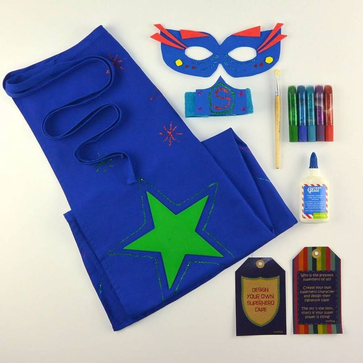 I've just found Design Your Own Superhero Cape. This unique ' Super Hero Cape ' kit is designed to encourage children to take basic materials and use their individual skills to make something truly unique.. £39.00