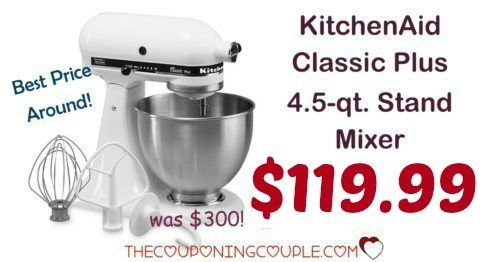 HOT PRICE NOW! BEST PRICE AROUND! Great Mother's Day Gift! KitchenAid Classic Plus 4.5 qt Stand Mixer for only $119.99! Awesome addition to any kitchen!  Click the link below to get all of the details ► http://www.thecouponingcouple.com/kitchenaid-classic-plus-4-5-qt-stand-mixer/ #Coupons #Couponing #CouponCommunity  Visit us at http://www.thecouponingcouple.com for more great posts!