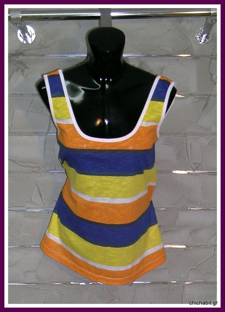 v-back top(orange-blue)