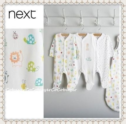 NEXT(ネクスト) ベビーロンパース・カバーオール NEXT▼アニマル☆ロンパース3枚セット▼新生児〜2才