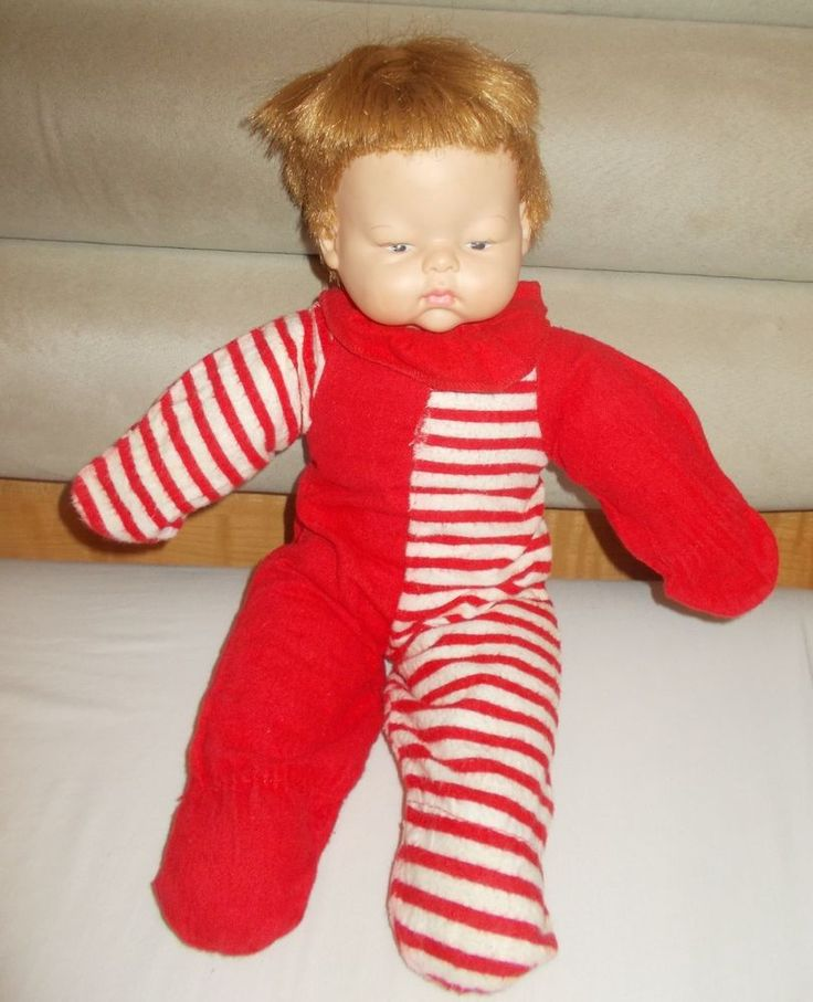 Sweet Vintage Horsman Baby Doll  Cloth Body