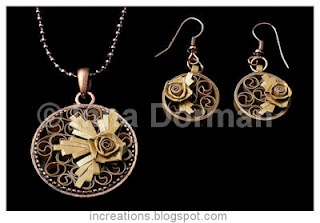 quilled jewelry ...beautiful