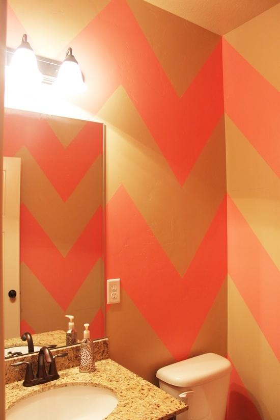 Love Me, Dani Marie: {DIY Chevron Bathroom/Wall}