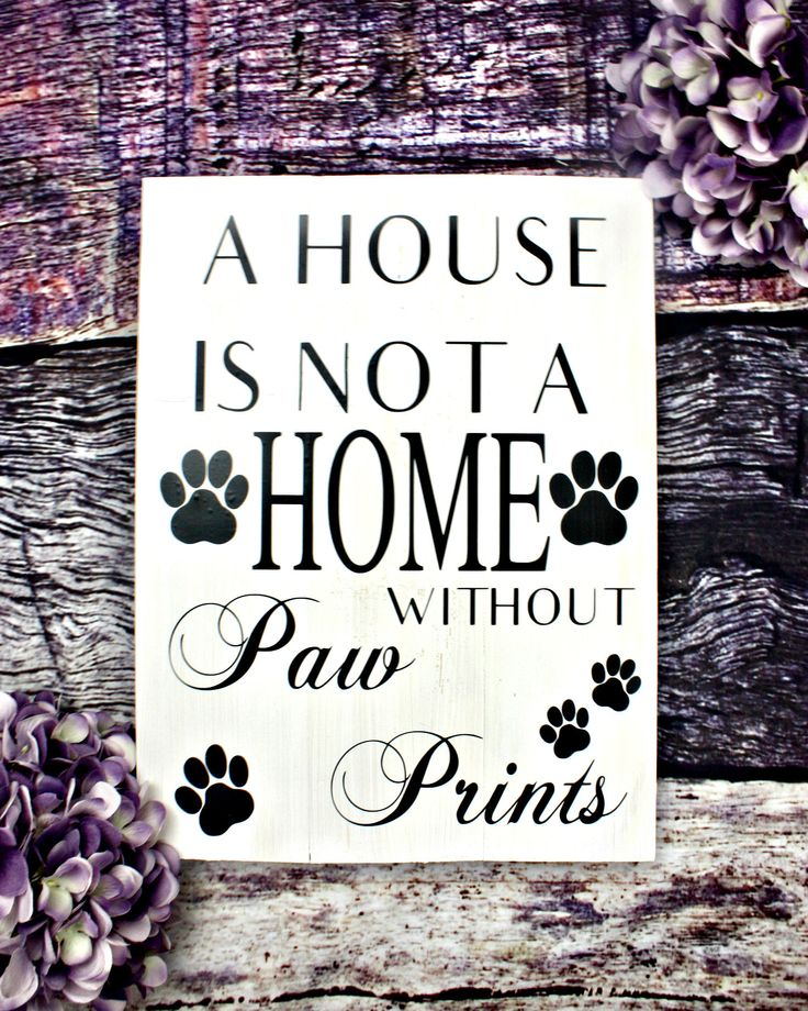 A House Is Not A Home Without Paw Prints. Wooden Dog Sign. Rustic Dog Decor. Dog Signs For A Home. Rustic Pet Decor, Gift for Dog Lover. by KDubWoodCreations on Etsy