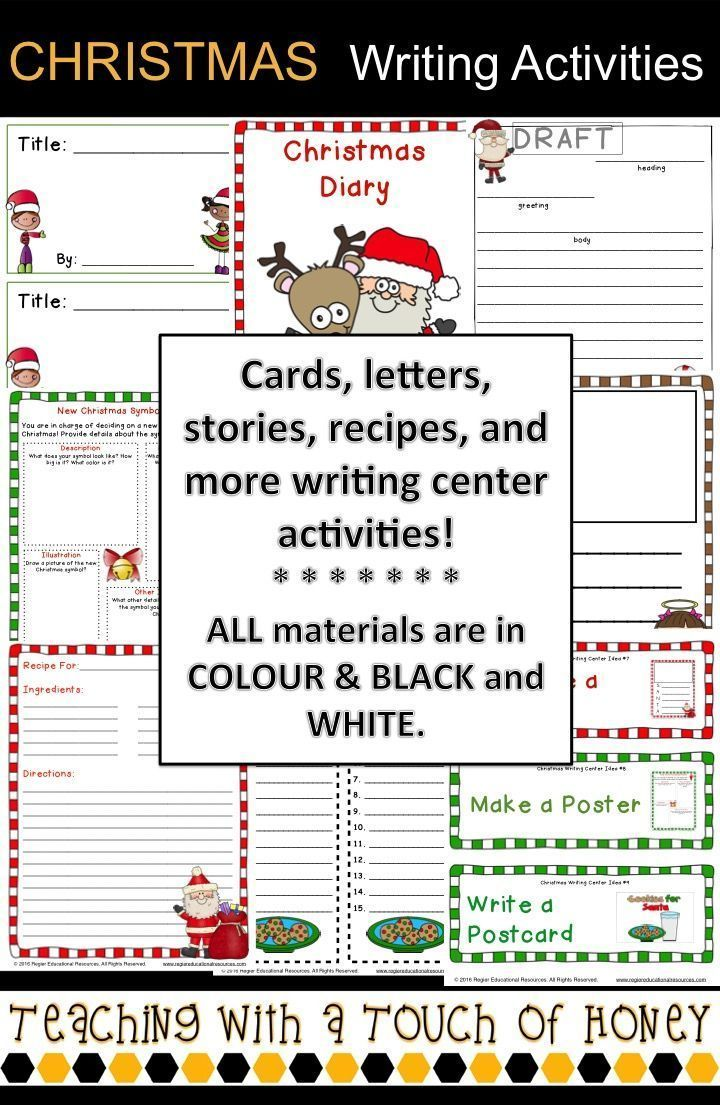 Are you looking for writing activities to use during a Christmas unit? The Christmas Writing Center contains 12 writing activities and other support materials.