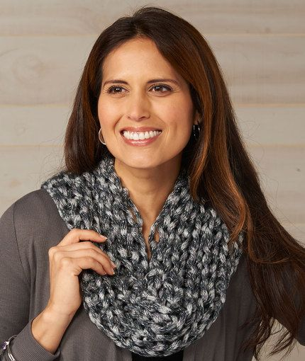 Elegant Evening Cowl Free Knitting Pattern in Red Heart Yarns