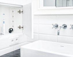 Francja na Powiślu - realizacja - Średnia łazienka, styl eklektyczny - zdjęcie od EG projekt