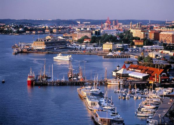 Goteborg harbour, west coast of Sweden: A really lovely city