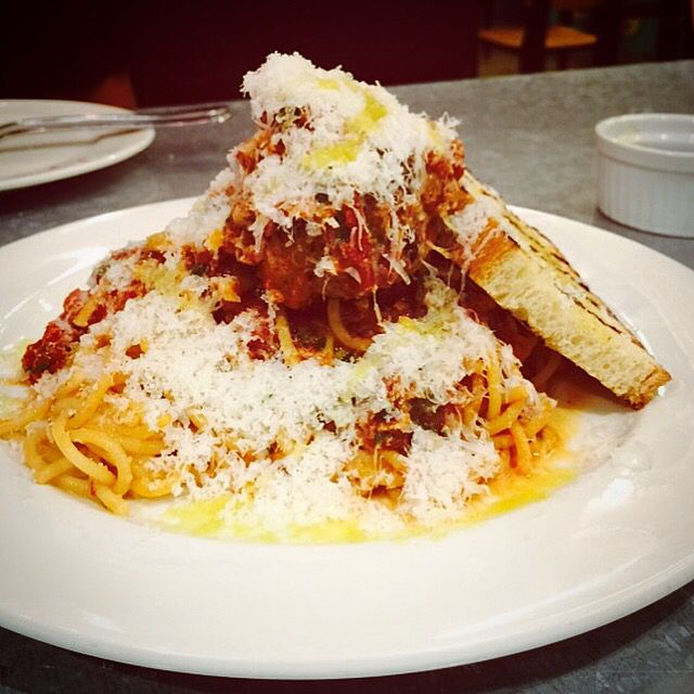on top of spaghetti all covered with cheese