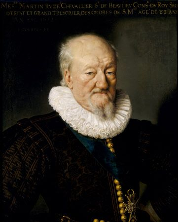 Martin Ruze de Beaulieu (c.1526-1613) King's Secretary under Henry III of France, Henry IV of France and Louis XIII. Portrait of Frans Pourbus the younger, 1612