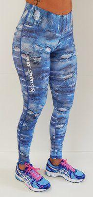Lançamento - Legging estampa digital jeans