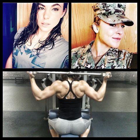 SupportMilitaryMuscle The shredded braut5280 Sarah