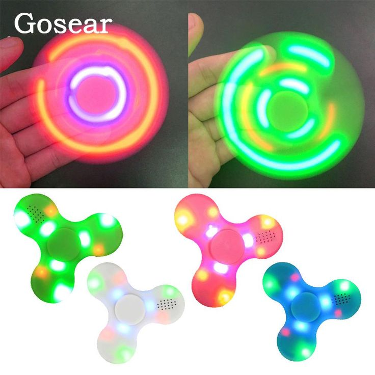 Gosear  LED Bluetooth Speaker Hand Spinner Tri Spinning Top Decompression Finger Spiner. Communication: WirelessPlayback Function: NoneModel Number: stress relief toy music fidget spinner handspinnerInterface Type: NoneSupport Memory Card: NoIntelligent Personal Assistant: NoneRemote Control: NoMaterial: PlasticBuilt-in Microphone: NoFeature: MIRACAST,NoneSupport Apt-x: YesChannels: 2 (2.0)Audio Crossover: Full-RangeSupport APP: YesSpeaker Type: PortableDisplay Screen: NoVoice Control…